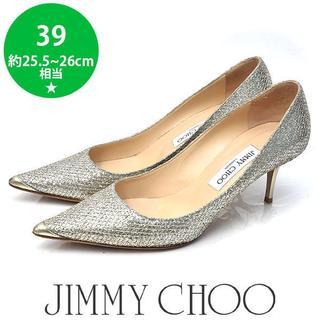 ジミーチュウ(JIMMY CHOO)のジミーチュウ グリッター パンプス 39(約25.5-26cm)(ハイヒール/パンプス)