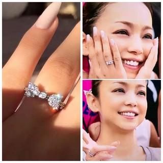 安室奈美恵 リング 指輪 リボン シルバー925(リング(指輪))