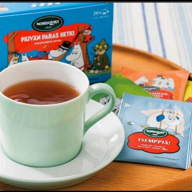 ムーミン フルーツティー ブラックティー 紅茶 ティーバッグ フィンランド 食品/飲料/酒の飲料(茶)の商品写真