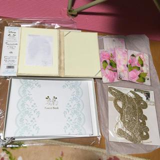 Disney - 結婚式 ゲストブック 芳名帳 結婚証明書 ガーランド サクラペタル 花びら