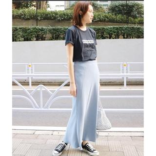 イエナスローブ(IENA SLOBE)のSLOBE IENA ダブルクロスミモレマーメイドスカート ブルー サイズ36(ロングスカート)