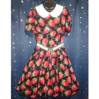 JaneMarple - Jane Marple★Strawberry Meets Logo襟付ワンピース
