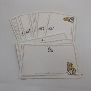 Disney - 不思議の国のアリス メッセージカード アリス 25枚
