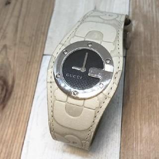 Gucci - 美品【GUCCI グッチ】104 腕時計 レザー Gフェイス Gロゴ バングル