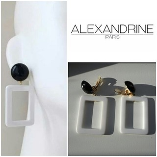 IENA - ALEXANDRINE PARIS スクエアイヤリング モノトーン