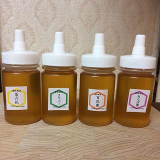 蜂蜜の日【非加熱・生はちみつ】4種お試しセット・150g×4(4本)