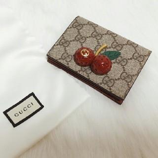Gucci - 可愛 ^_^GUCCIの チェリー 折財布