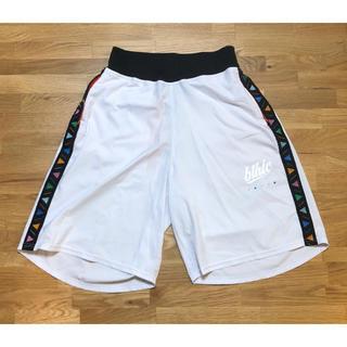 NIKE - 【中古】ballaholic TSC zip shorts M White 白