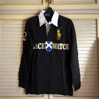 Ralph Lauren - 【超美品】ラルフローレン  Sサイズ ポロシャツ  長袖 ブラック ビッグポニー