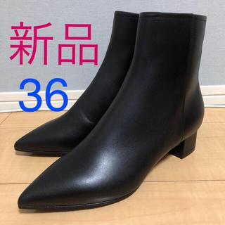 PELLICO - 新品未使用!PELLICO ショートブーツ ブラック36サイズ 3.5cmヒール