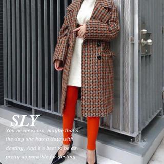 スライ(SLY)の【新品】SLYチェックコート♡(ロングコート)