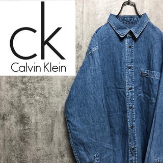 Calvin Klein - 【激レア】カルバンクラインジーンズ☆ロゴタグ入りビッグデニムシャツ 90s