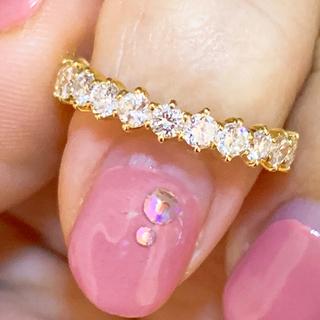 美品❗️0.61ct k18 ダイヤリング ダイヤモンドリング(リング(指輪))