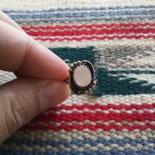 Indian - インディアンジュエリー ナバホ族 ピンクシェル シルバーリング 指輪