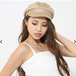 リエンダ(rienda)のBasic cotton キャスケット ベージュ(キャスケット)