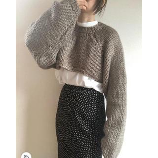 トゥデイフル(TODAYFUL)のLowgauge Sleeve Knit 19秋冬 ニットトップス(ニット/セーター)