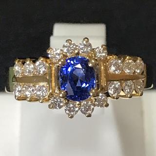 ダイヤモンド サファイヤ リング 天然ダイヤ 国内最安値 新品未使用 即日発送(リング(指輪))