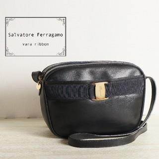 Salvatore Ferragamo - Ferragamo フェラガモ ヴァラリボンショルダーバッグ ブラック