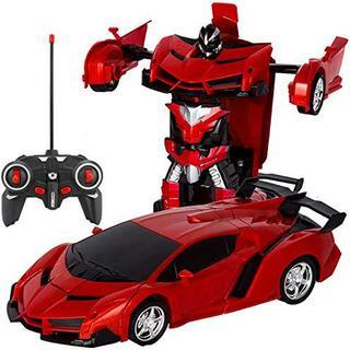 ラジコンカー 無線操作 リモコンカー 電動RCカー おもちゃの車 レッド