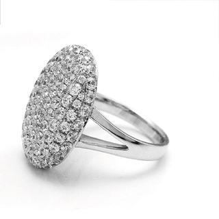 ◾️11号フルクリスタルファッションシャイニーシルバーリング(リング(指輪))