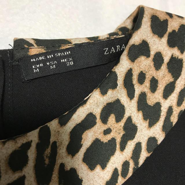 ZARA(ザラ)のZARA レオパード トップス M レディースのトップス(シャツ/ブラウス(半袖/袖なし))の商品写真