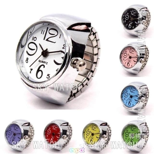 大人気♡指輪時計 ホワイトの通販