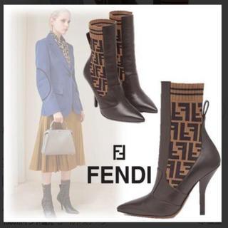 フェンディ(FENDI)の♡完売品 FENDI ズッカ柄 ブーツ♡(ブーツ)