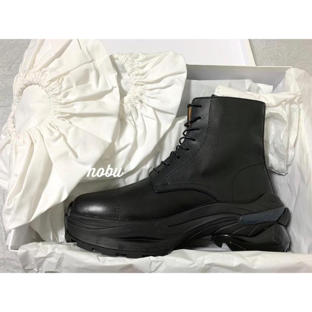 Maison Martin Margiela(マルタンマルジェラ)の新品【 メゾン マルジェラ 】レザー コンバット ブーツ 42 チャンキーソール メンズの靴/シューズ(ブーツ)の商品写真