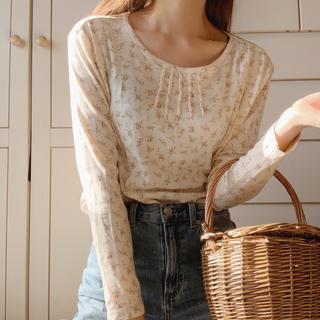 ロキエ(Lochie)のflower cotton tops(カットソー(長袖/七分))