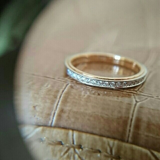 ポンテヴェキオ(PonteVecchio)のポンテヴェキオ エタニティリング ピンクゴールド ダイヤモンド プラチナ 7号(リング(指輪))