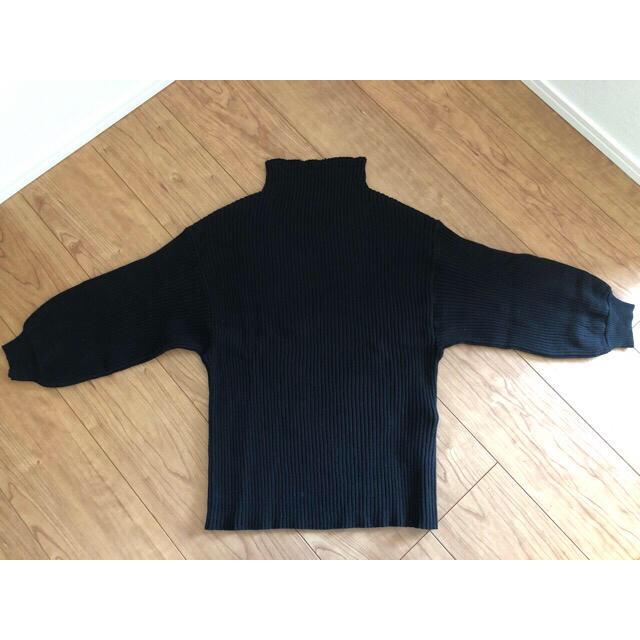 antiqua(アンティカ)の専用-antiqua ワイドスリーブハイネックニットトップス ブラック レディースのトップス(ニット/セーター)の商品写真