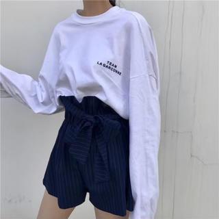 シンプル☆ロング白Tシャツ(Tシャツ(長袖/七分))