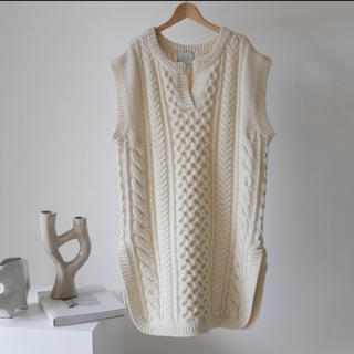 BEAUTY&YOUTH UNITED ARROWS - ARGUE WOOL CABLE CAFTAN KNIT TUNIC