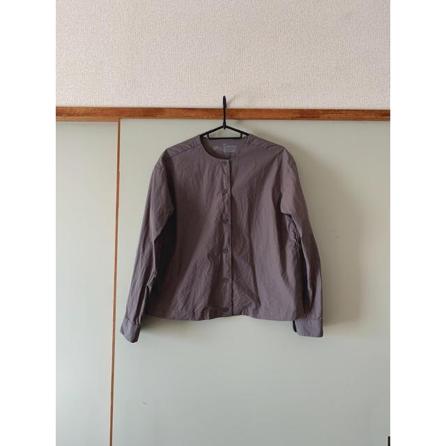 MUJI (無印良品)(ムジルシリョウヒン)の新疆綿洗いざらしピンオックスクルーネックシャツ レディースのトップス(シャツ/ブラウス(長袖/七分))の商品写真