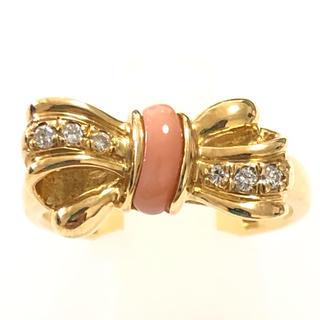 ニナリッチ(NINA RICCI)のニナリッチ NINA RICCI リング 指輪 珊瑚 k18 イエローゴールド(リング(指輪))
