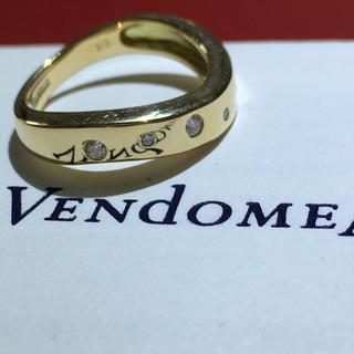 Vendome Aoyama - ヴァンドーム VENDOME k18 イエローゴールド ダイヤモンド リング