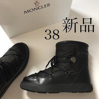 モンクレール(MONCLER)の新 品./ 38 MONCLER モンクレール ブーツ ブラック(ブーツ)