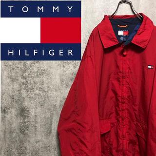 TOMMY HILFIGER - 【激レア】トミーヒルフィガー☆ワンポイントフラッグ刺繍ナイロンスイングトップ