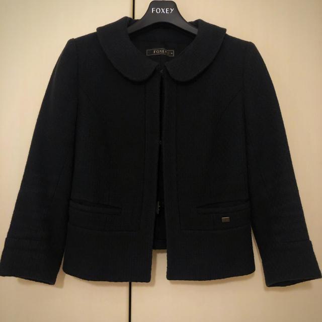 FOXEY(フォクシー)の期間限定お値下げ♡フォクシー ジャケット 濃紺 38 SP品 レディースのジャケット/アウター(ノーカラージャケット)の商品写真