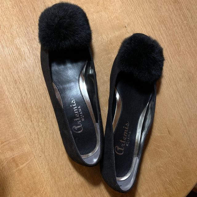 DIANA(ダイアナ)のDIANA ファー パンプス レディースの靴/シューズ(バレエシューズ)の商品写真