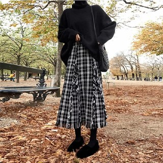 dholic - チェックざっくりスカート