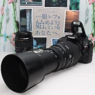 Canon - ❤️300mm超望遠&予備バッテリー❤️キャノン Kiss X7 ダブルレンズ
