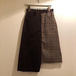 ディーホリック(dholic)の韓国 バイカラータイトスカート(ミニスカート)