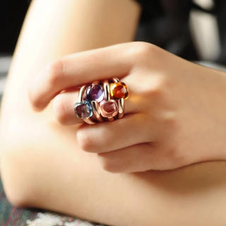 agete - シトリンリング ヌードリング キャンディリング シトリン 天然石 ポメラート