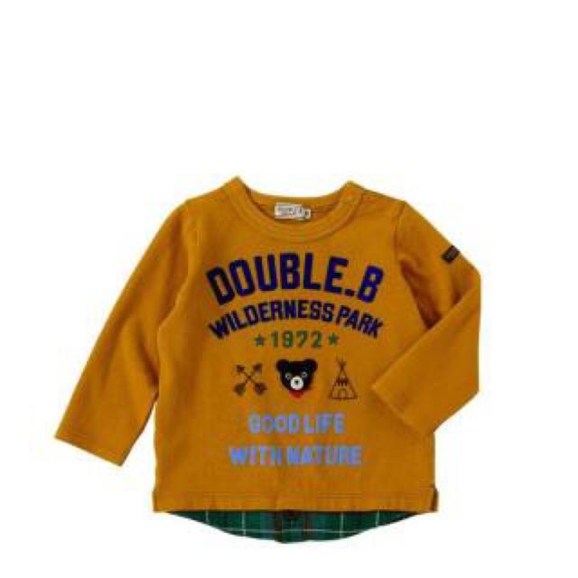 DOUBLE.B(ダブルビー)のダブルB.ロンT① キッズ/ベビー/マタニティのキッズ服 男の子用(90cm~)(Tシャツ/カットソー)の商品写真