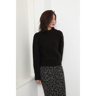 rienda - Rienda Puff Shoulder Knit TOP