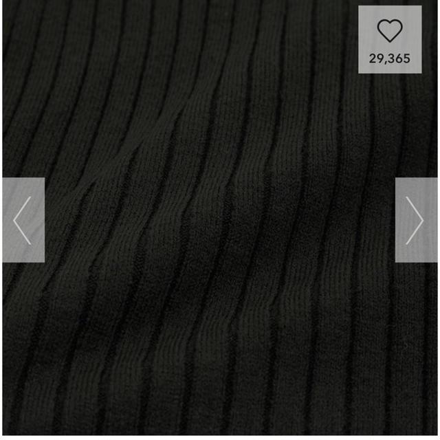 GU(ジーユー)のGU ニット 黒 M レディースのトップス(ニット/セーター)の商品写真