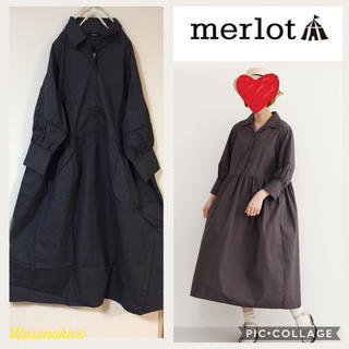 merlot - 【新品】merlot はしごレース ウエスト切替ワンピース