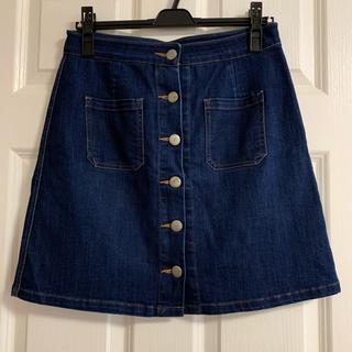 ローリーズファーム(LOWRYS FARM)の台形スカート デニム(ミニスカート)