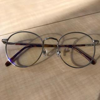 Zoff - zoff PC用ブルーライトカット眼鏡 度なし メタルフレーム ボストン 美品